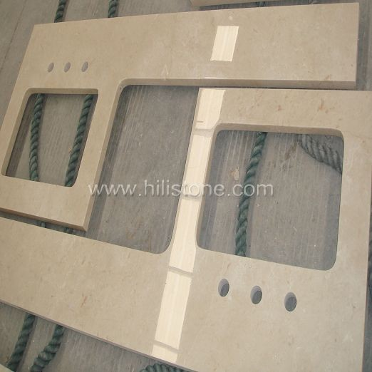 Beige Marble Polished Countertop - Flat Edge
