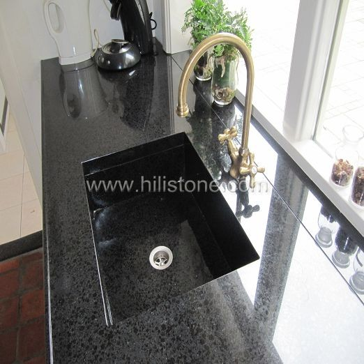 G684 Black Countertop - Front Water Stopper