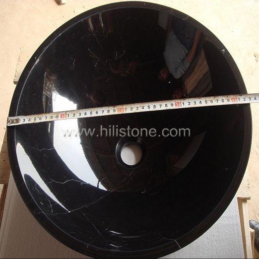 Black Marquina Marble Polished Stone Sink
