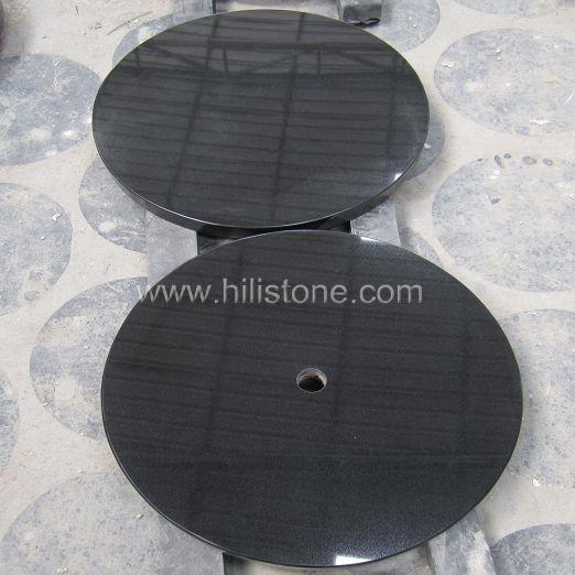 Black Granite Polished Table top - Round
