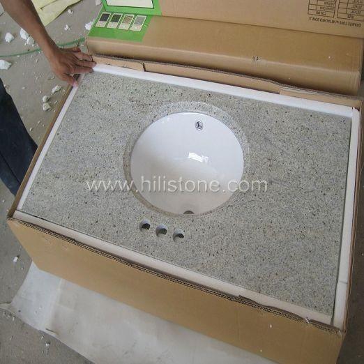 Kashmir White Vanity Top with Porcelain Sink