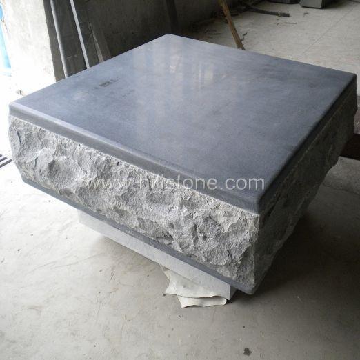 G654 Blue Black Granite Honed Stone Pouf