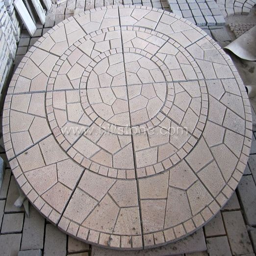 G682 Yellow Granite Pattern - Round Shape