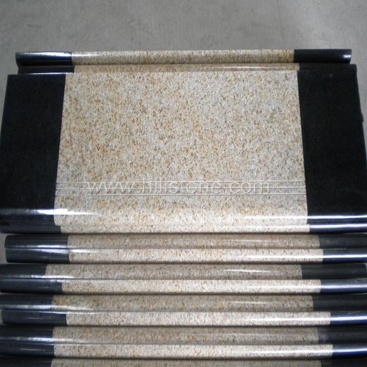 G682 Polished Step with Anti-slippery Strips