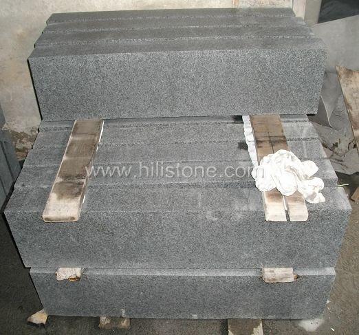 G684 Black Flamed Stone Block Step