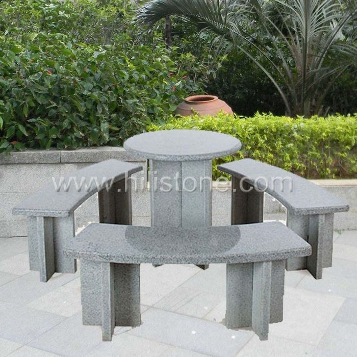 Stone furniture Table & Bench 3