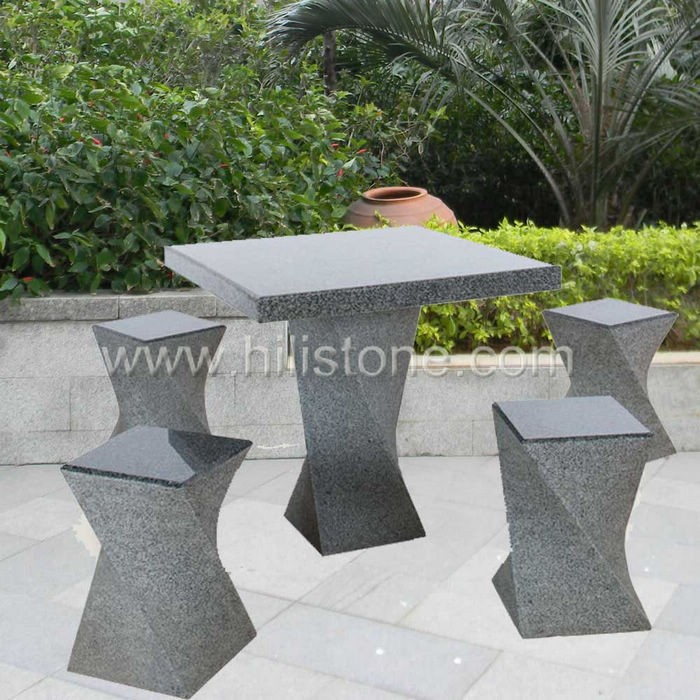 Stone furniture Table & Bench 4
