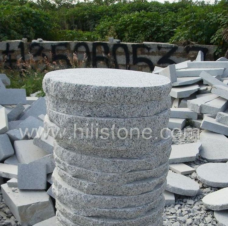 G603 Round Bushhammered Stepping Stone