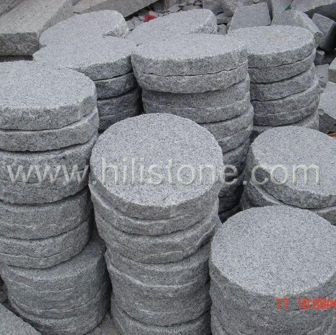 G603 Round Picked Stepping Stone