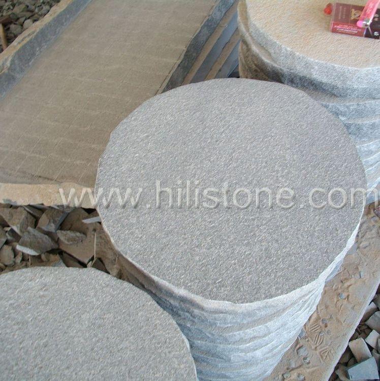 G654 Round Bushhammered Stepping Stone