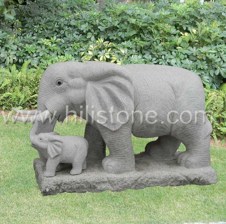 Stone Animal Sculpture Elephant 3