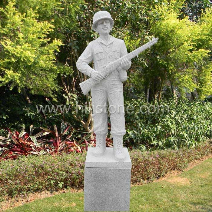 Stone Figure carving Soldier