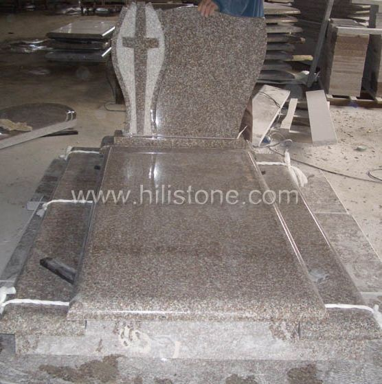 Tombstone Set TM53 G664 Bainbrook brown tombstone