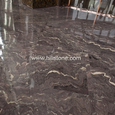 French Purple Marble Polished Tiles