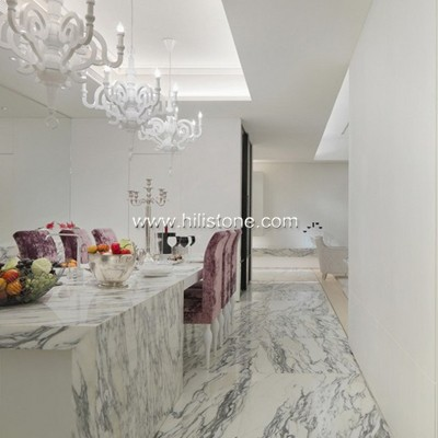 Milky White Marble Polished Tiles