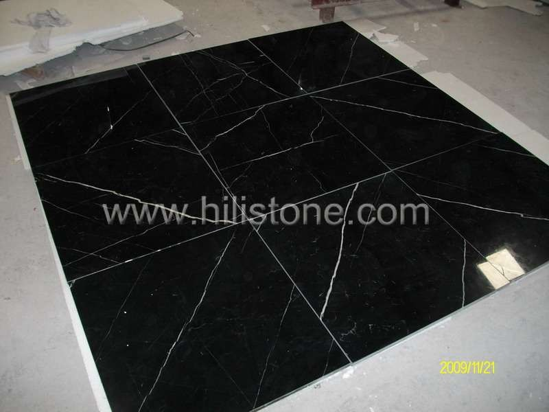 Nero Marquina Polished Tiles